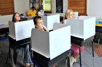 Classroom privacy shields