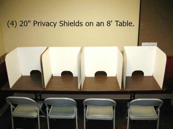 20in on Table Shields
