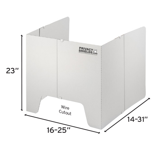 Adjustable privacy shield
