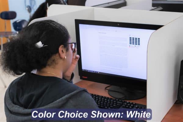 White 19-inch Computer Shield