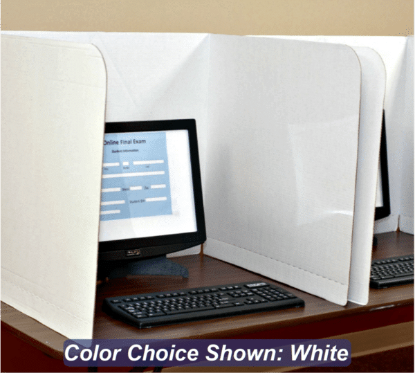 Computer Privacy Shield - 19in Single White Testing Barrier