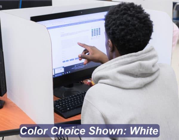 Privacy Shield Desktop Testing Folder 19-inch White