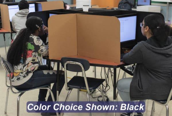 Student Desk Divider 19-inch Black and Kraft CAP