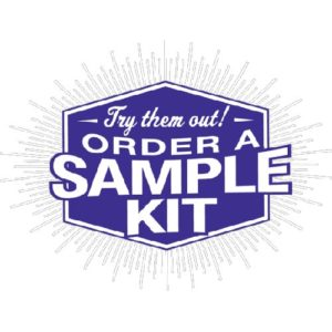 We would love to share a sample of any of our products with you. Please call 800-315-0741 and we will take care of you!  The sample kits are $14.95. Call and let us know what you would like to see.