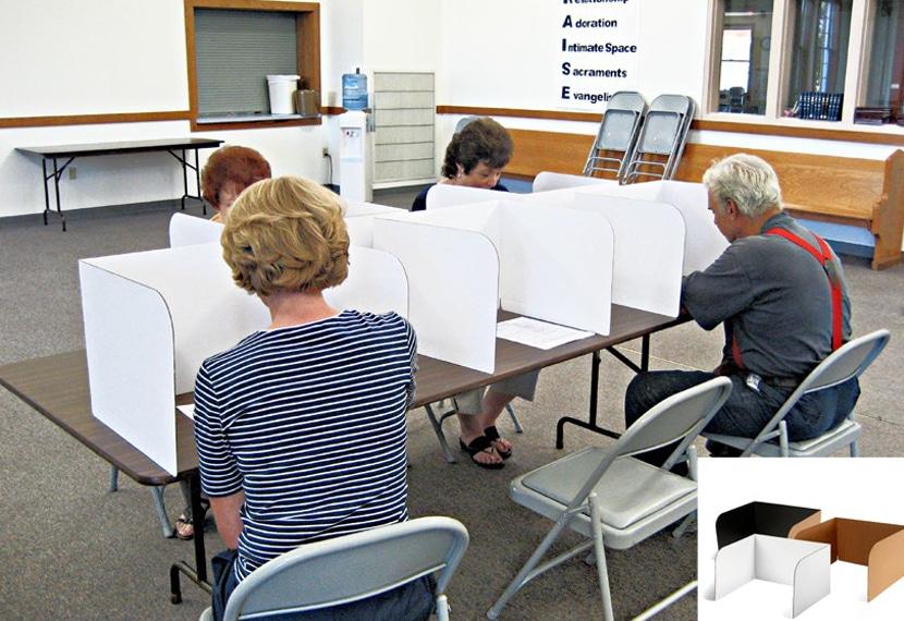 precinct voting booths