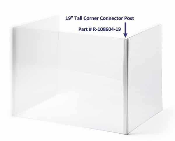 19 Inch Tall Corner Connector Post R-108604-19