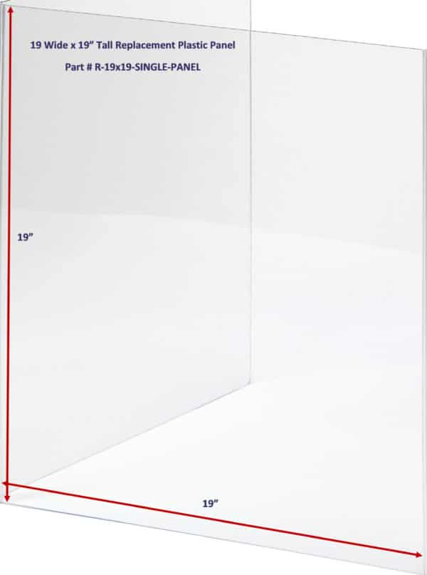 19 x19 Sneeze Guard Clear Panel Replacement for Plexiglass Privacy Shield