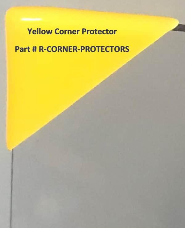 Yellow Corner Protectors for Privacy Shield R-CORNER