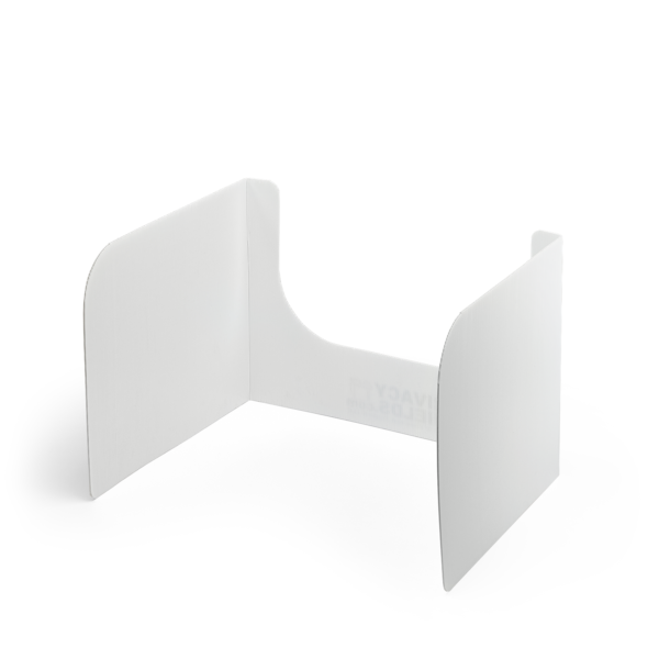 Open Front Plastic Privacy Shield - 13 Inch Height