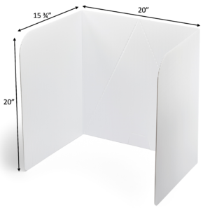 "20"" Tall Plastic Cleanable and Long-Lasting Privacy Shields"