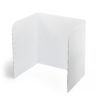 """Cleanable Plastic Privacy Shield - 20"""" Height"""