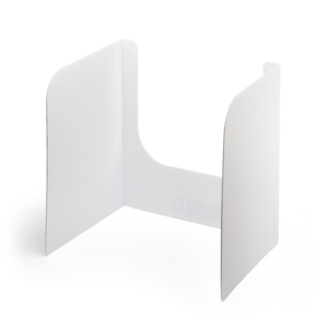 "20"" Tall Plastic Cleanable Open-Front Privacy Shields <br> <span class='advise-text'> (No Clear Window Insert)</span>"